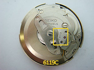 Seiko movement calibre