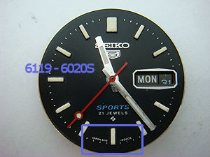 7S26 Seiko dial reference number